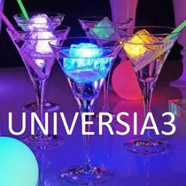 6 Cubitos De Hielo Luminoso Led Multicolor Cotillon Luminoso