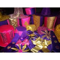 Cotillon Gorros Sombreros Tanda Fucsia Violeta Dorado