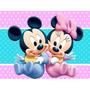 Kit Imprimible Mickey Y Minnie Bebe Diseñá Tarjetas Y Mas