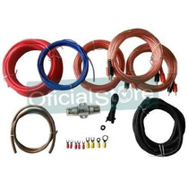 Kit Cables Para Potencias 1200w Rca Procars 8 Gauges! Oferta