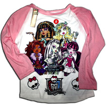 Remeras Monster High Combinadas Rangler Talles Malatan