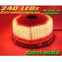 Balizas Estroboscopicas 240 Led Rojo / Bomberos / Seguridad