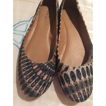 Zapatos Chatas Geométricas Nine West Dos Posturas Baratas