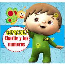 Kit Imprimible Baby Tv Charlie Y Los Numeros Tarjetas Y Mas