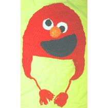 Gorro Tejido Al Crochet Elmo De Plaza Sésamo