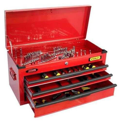 Caja juego de herramientas 123 piezas stanley tubos y - Caja de herramientas precio ...