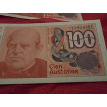 Billetes Argentinos Antiguos - 100 Australes X 3 Unidades