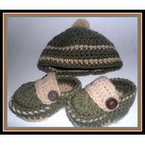 Gorro Y Patucos . Tejido Crochet