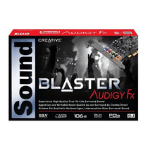 Placa Sonido Creative Sound Blaster Audigy Fx 5.1 In Box