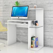 Escritorio Pc Mesa Notebook Con Vidrio Moderna Muebles Duo
