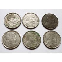 Lote 6 Monedas Argentina 20 Centavos 1950 - 1951