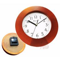 Reloj Pared Eurotime 1225 Madera 25cm Envio Promo Caba