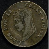 Guardia Imp. Bolivia, Republica 4 Soles 1855 Mj Plata