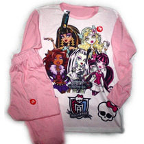 Pijama Manga Larga Monster High / Draculaura T2 Al T12