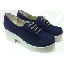Zapato De Plataforma Para Mujer- Acordonado- Ultimos