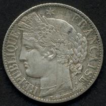 Guardia Imp. Francia 1 Franco Año 1872 K Plata Rara