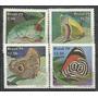 Serie De 4 Estampillas Brasil Año 1979 Mariposas