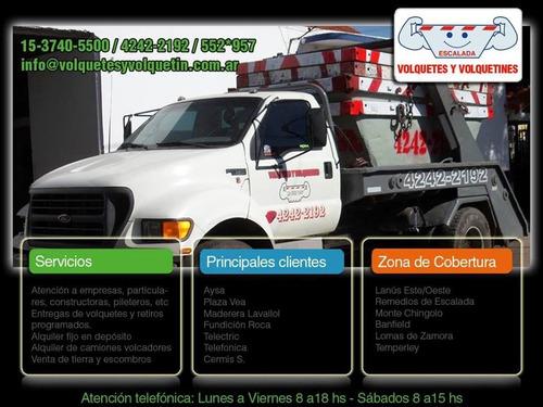 Alquiler De Volquetes Zona Sur 4242-2192 Lanús, Escalada,etc
