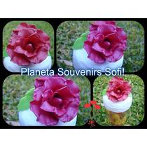 Frasco Rosa De Porcelana Fría! Souvenir Delicado! Oferta!