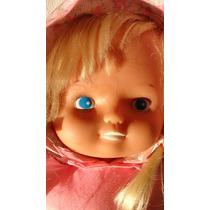 Muñeca De Tela Con Cabeza De Plastico