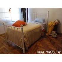 Cama De Hierro 1 Plaza; Mod. Violeta Y Mod. Neron