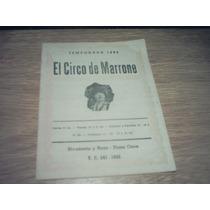 Programa De Circo Josè Marrone Año 68 Teatro Actòr $ 300