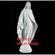 Virgen Medalla Milagrosa, Yeso, 75 Cm. De Altura