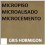 Piso Decoratico Micropiso Microcemento Cementicio Gris Hormi