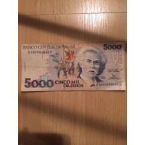 Billete 5000 Cruzeiros Carlos Gomes