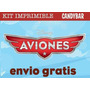 Kit Imprimible Aviones Disney Pixar - Candy Bar + Extras