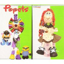 5 Pares De Moldes P/ Figuras Goma Eva - Popets