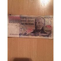 Billetes 100000 Pesos Argentinos Gral. San Martin