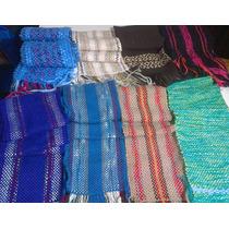 Bufandas Artesanales Tejidas En Telar Hombre Mujer Unisex