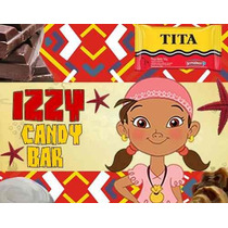 Kit Imprimible Candy Bar Golosinas Izzy De Jake Y Los Pirata