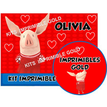 Kit Imprimible De Olivia La Chanchita Diseñá Tarjetas Y Mas