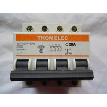 Llave Interruptora Termomagnetica Tetrapolar Thomelec 20a