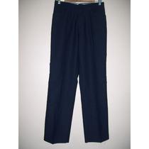 Pantalón De Vestir Hombre Talle Xs Escolar Azul