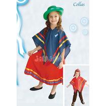 Disfraz Patrio Para Nenas, Colla Completo! Hermoso Jiujim