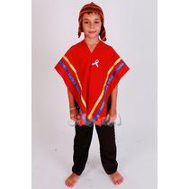 Disfraz Patrio Coya Varon 3-9 Años Hermoso Y Completo Jiujim