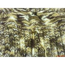 Sweater Chaleco- Tejido A Mano En La Gama De Tostados