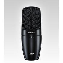 Microfono Shure Condenser Cardiode Sm27-sc Membrana Grande