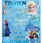 Kit Imprimible Frozen + Candybar + Regalo Envio Gratis Unico