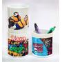 Tazas Vaso Lapiceros Plastico Estampado Egresados Cumpleaños