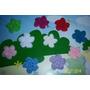 10 Flores Tejidas Al Crochet P/diferentes Usos