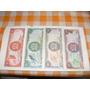 Lote 4 Billetes Trinidad Tobago De 1-5-10-y20 Dolares En Cir