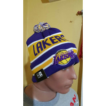 Gorros De Lana Importados Original Lakers Nba