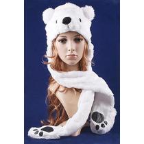 Gorro Peluche Oso Polar Abrigo-fiesta- Disfraz- T/universal