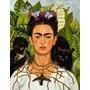 Lamina - Autorretrato Con Collar - Frida Kahlo - 40 X 50 Cm.