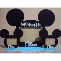 Souvenir Portaretrato De Mickey Pintado Todo A Mano!