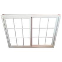 Ventana Aluminio Blanco Repartido 150x110 Fabrica Vidrio